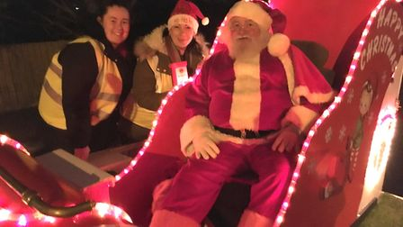 This is where Santa will be stopping as he tours Wisbech on his sleigh. Here, he is pictured with re