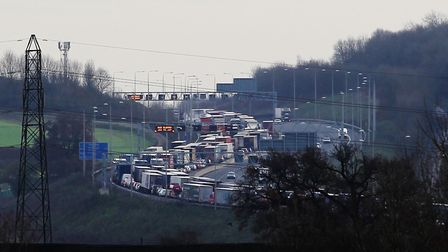 Traffic officers were called to a four-vehicle crash on the M25 near Potters Bar. Picture: Danny Loo