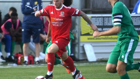 Declan Rogers hit the Wisbech Town goal in their defeat to Belper Town. Picture: IAN CARTER