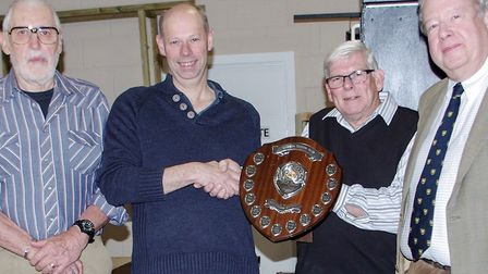 Michael Foster from PICO (second from left) won the Pat Goode Shield, which was presented by Roger N