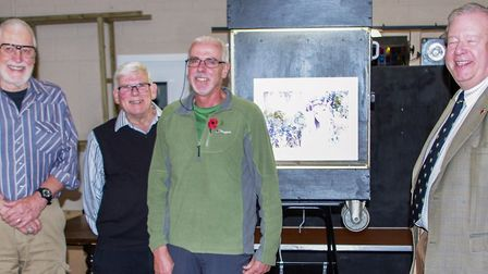 The Best Print award was won by Graham Clegg of Deeping CC (centre), which was presented by Roger Ne