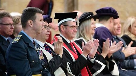 College of West Anglia air and defence students take flight at matriculation ceremony. Picture: GRAC