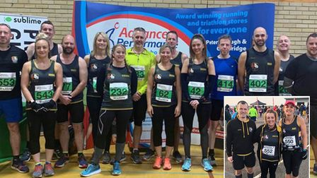 Members of the Three Counties Running club (pictured) had a weekend of park runs and 10k sprints. Pi