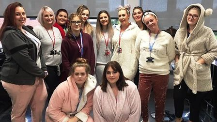 Staff and students at the College of West Anglia's hair and beauty salon have raised more than £400
