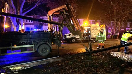 A suspected drink driver took out Clarkson Avenue's Openreach phone lines in Wisbech on Sunday (Nove
