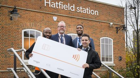 GTR staff launched the extension of pay as you go with contactless to Hatfield station. Picture: Pet