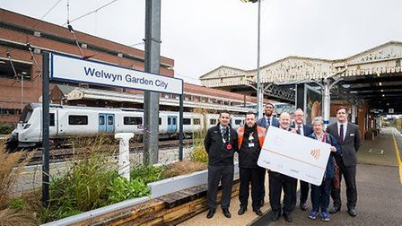 Govia Thameslink Railway staff celebrated the arrival of pay as you go with contactless at Welwyn Ga