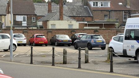 Somers Road car park in Wisbech where a 70 year-old woman was robbed at knifepoint on Wednesday. A s