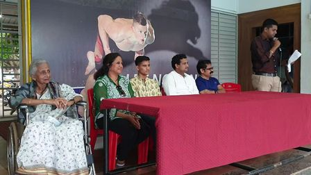Belgaum Swimming Club announcing Ahaan's fund. Picture: Poornima Kirloskar-Saini.
