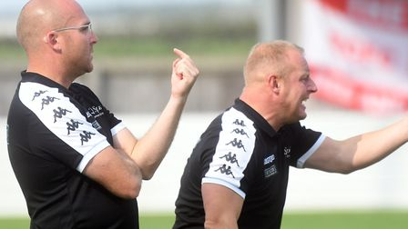 Wisbech Town boss Seb Hayes (left). Picture: IAN CARTER