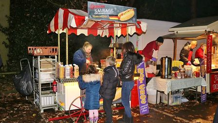 Christmas tree light switch-on in Oakmere Park, Potters Bar. Picture: Jill Hellary.