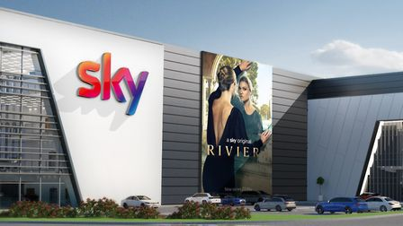 An artist's impression of the planned new Sky Studios Elstree in Borehamwood. Picture: Sky.
