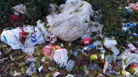 The rubbish left behind properties on Elm Low Road in Wisbech after a group of people had been livin