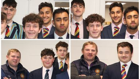 Before and after! Staff and students at Wisbech Grammar School grew out their facial hair for Movemb