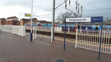 Trains are delayed after a man was injured on the tracks at Knebworth. Picture: Harry Hubbard