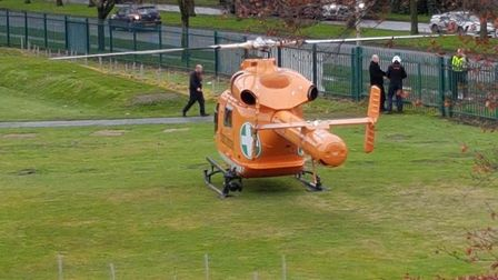 Magpas air ambulance was dispatched to Wisbech today but a man, in his 30s, was pronounced dead at t