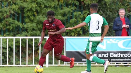 Dylan Ebengo got his first Welwyn Garden City goal in 26 appearances against Bedford Town. Picture: