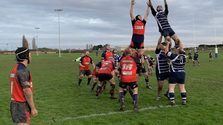 Action from Wisbech Wildcats match at Boston
