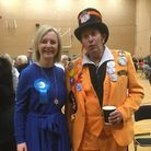 Liz Truss who was re-elected in Norfolk South West with Monster Raving Loony Party candidate Earl El