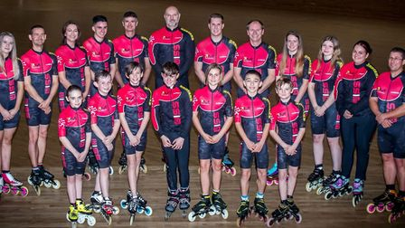Wisbech Inline Speed Skaters cap successful season at Living Sport Awards. The team are pictured. Pi