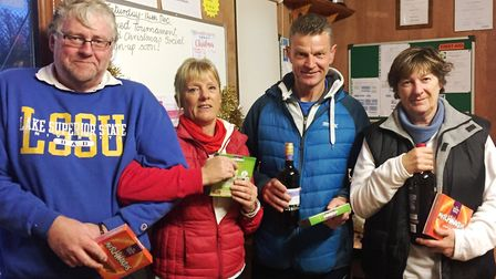 Wisbech Tennis Club players braved the wintry conditions for their Christmas competition. From left: