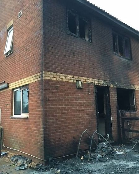 A tumble dryer fire that started in the conservatory of a house in Inham's Close, Murrow, spread to