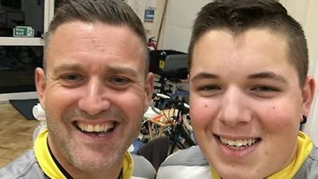 Mark Norris (left) and Brandon Edwards cycled 250 miles and raised £860 in the process for less fort