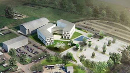 An artist's impression of the redeveloped Herts police headquarters in Welwyn Garden City. Picture: