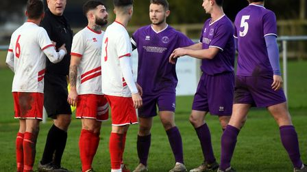 Wisbech St Mary in Thurlow Nunn League First Division North action. Picture: IAN CARTER