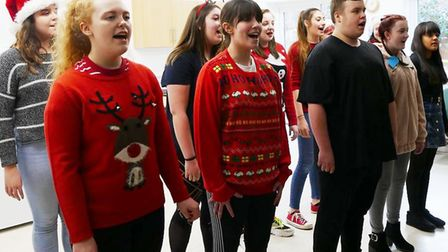 Performing arts students put on a show for day centre in Wisbech. Picture: CWA