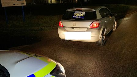Drink driver arrested in Wisbech for being nearly three times over the limit. Picture: CAMBS POLICE