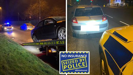 Busy night for Fen Cops in Wisbech as arrests are made and cars are seized. Picture: Supplied/@FenCo