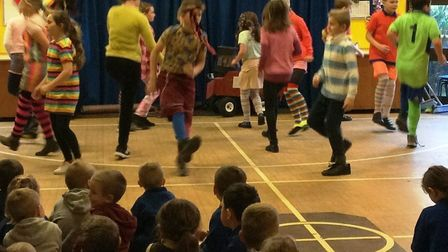 Pupils at Anthony Curton & Tilney All Saints during their traditional dance show. Picture: JANE MURR