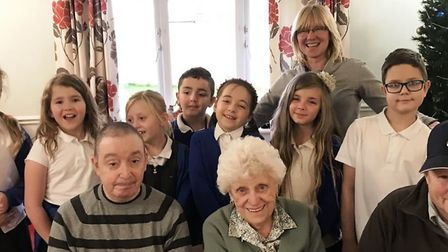 Children from St Peter's Church of England School in Wisbech spread festive cheer when they visited