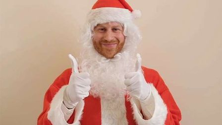 Prince Harry dresses as Santa for message to Scotty's Little Soldiers. Picture: SCOTTY'S LITTLE SOLD