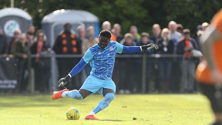 Ravan Constable had to make a couple of saves to keep Potters Bar in the game against Kingstonian. P