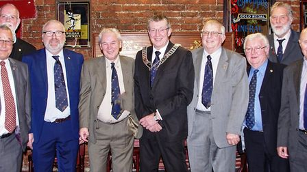 The Wisbech Business & Professional Men's Club committee for 2020. Picture: PETER DENNIS