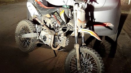 A pit bike being ridden around Wisbech that police have tried to stop several times was seized last