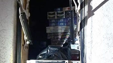 Thirty thousand illegal cigarettes and four kilograms of hand rolling tobacco worth over £10,000 was