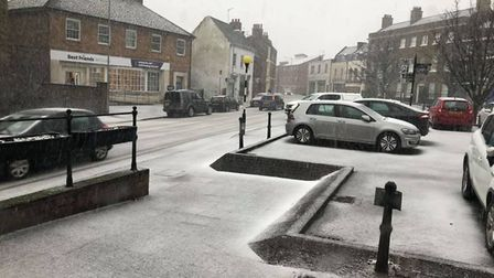 First pictures of the snow in Wisbech. Picture: Supplied