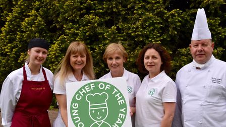 The team behind the Fleetwood Young Chef of the Year including Katharine Tate (second left) and Harr