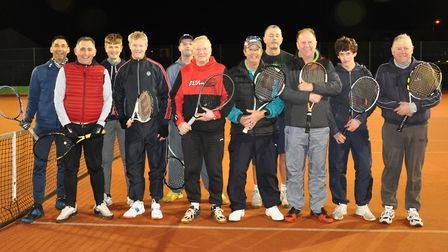 Players braved the cold conditions to take part in Wisbech Tennis Club's singles tournament. Picture