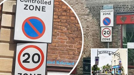 More than 350 parking tickets issued in Wisbech in five months. Pictured is the Controlled Zone in W