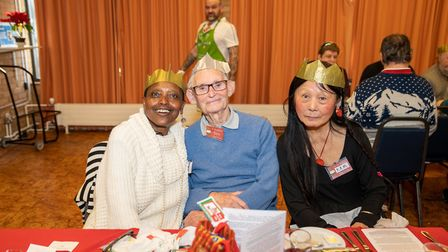 The Mixed Group organised a Christmas dinner in Welwyn Garden City for people who would otherwise be