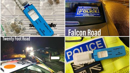 Drivers stopped for drugs, drink and no insurance across 24 hours in Wisbech. Picture: CAMBS POLICE