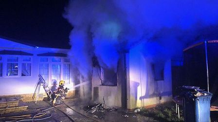 Firefighters were called to Kirkhams Lane in Wisbech on January 21 after a fire broke out in an outb