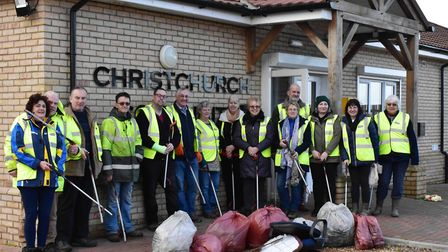 Litter pickers show pride for their streets as new group launched in Christchurch. Picture: CHRISTCH