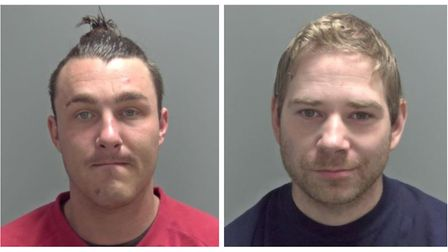 Daniel Cockerill and Nick Fisher, both of Bath Road, Wisbech, were caught on CCTV attacking a man wi