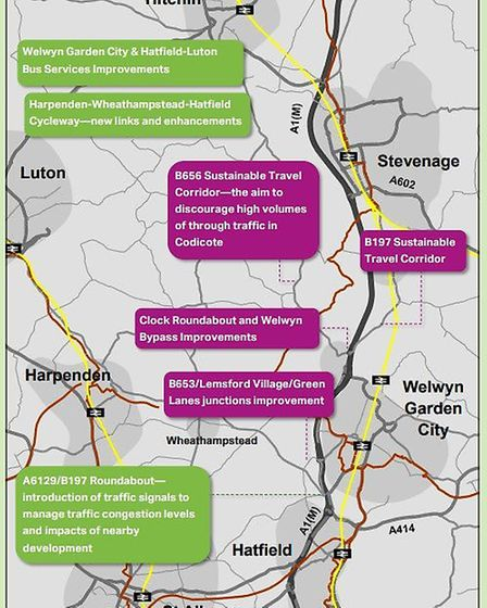 The planned improvements for Welwyn Garden City.