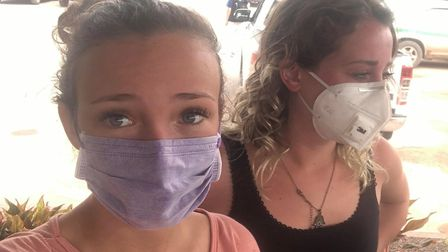 Wisbech woman Cesca Nicole and her friend are stranded in Cambodia amid Coronavirus fears. Picture: